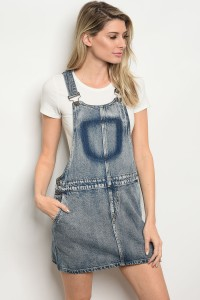 112-2-2-OS9286 BLUE DENIM OVERALL 2-2-2