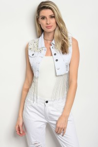S2-6-1-V6237W WHITE DENIM VEST 2-2-2