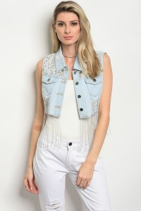 S6-2-1-V6237LCS LIGHT BLUE DENIM VEST 2-2-2