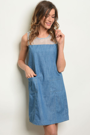 118-1-3-D9232 BLUE DENIM DRESS 2-2-2