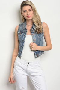 112-5-3-J6555 BLUE DENIM VEST 2-2-2