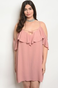 S2-4-5-GD3543X PINK PLUS SIZE DRESS 2-2-2