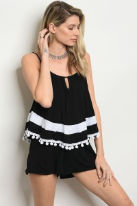 C55-A-1-R9828 BLACK WHITE ROMPER 2-2-2