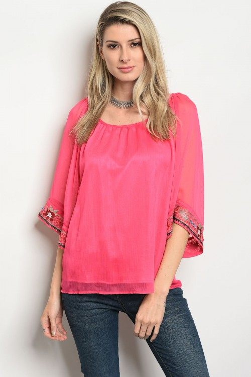 S18-4-3-T9472 HOT PINK TOP 2-3