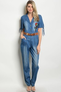 S11-10-4-J9674 LIGHT BLUE DENIM JUMPSUIT 2-2-2