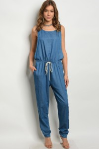 C39-A-2-J5002 DENIM CHAMBRAY JUMPSUIT 2-2-2