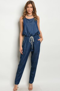 C43-A-1-J5002 DENIM CHAMBRAY JUMPSUIT 2-2-2