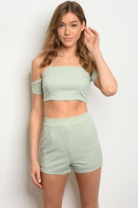 110-5-3-SET6368 SAGE TOP & SHORTS SET 2-2-2