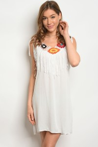 SA3-7-5-DR38634 WHITE MULTICOLOR DRESS 2-2-2