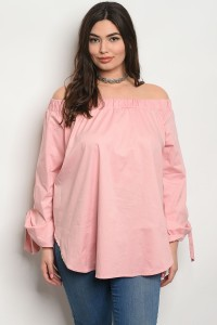 C75-A-6-T30080X PINK PLUS SIZE TOP 2-2-2