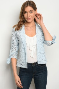 SA3-7-2-JA46400 BABY BLUE CROCHET JACKET 1-2-2-1