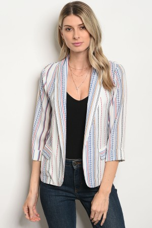 SA3-7-1-JA59163 IVORY INDIGO RED JACKET 2-2-2