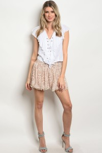 134-1-5-NA-S70078 MAUVE CREAM SHORTS 2-2-2