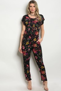 S8-12-1-J743601 BLACK PINK MULTY JUMPSUIT 1-2-2-1