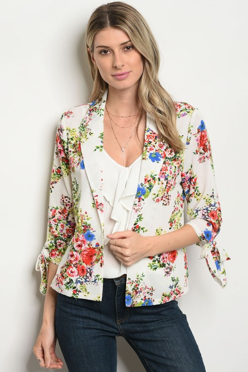 105-1-2-JA46407 WHITE GREEN FLORAL JACKET 3-2