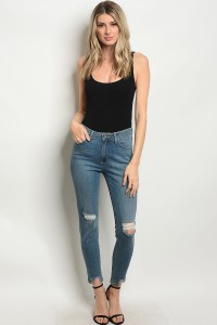 127-1-4-J62 MEDIUM DENIM JEANS 1-1-1-1-1-1