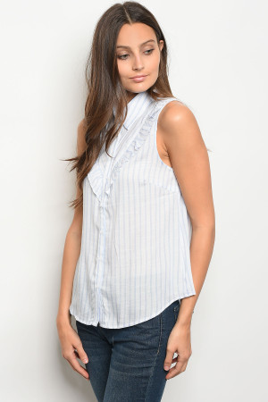 S11-18-5-T9244 WHITE BLUE TOP 3-2-1