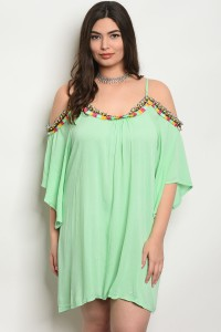 239-1-4-D440X MINT PLUS SIZE DRESS 2-2-2