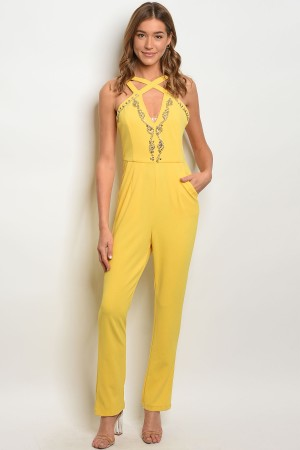 S11-7-5-J20292 YELLOW JUMPSUIT 2-2-2