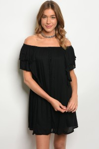 S11-3-3-DSL4589 BLACK DRESS 2-2-2