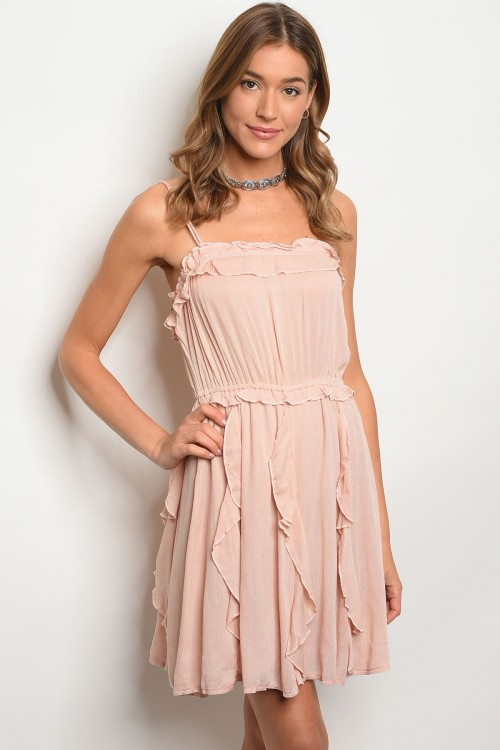 104-6-1-DSL4137 PEACH DRESS / 3PCS