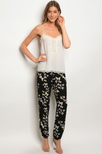 S9-14-3-PB6877PT BLACK YELLOW BUTTERFLY PANTS 3-2-1