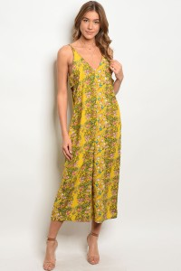 C9-A-2-JHR30005A YELLOW FLORAL JUMPSUIT 2-2-2
