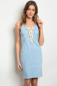 S10-16-2-D1708 BLUE DENIM DRESS 2-2-2
