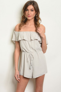 S3-5-2-NA-R66371 GREY OFF SHOULDER ROMPER 3-2-1