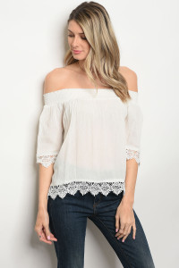 131-2-1-T226 OFF WHITE TOP 2-2-2