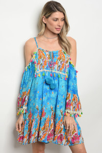 127-2-5-D425 BLUE MULTI DRESS 2-1
