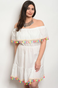 S11-15-1-D411X OFF WHITE PLUS SIZE DRESS 2-2-2