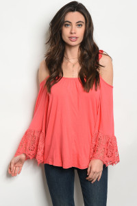 C89-B-1-T1526 CORAL TOP 1-2