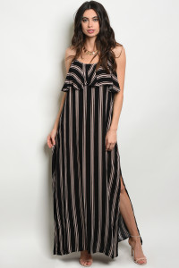 SA3-5-3-D12302 BLACK STRIPES DRESS 3-2-1