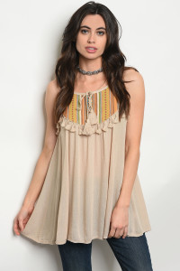 128-2-3-T10606 TAUPE TOP 2-2-2