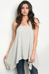 C87-A-1-T6537 IVORY POLKA DOTS TOP 2-3-3