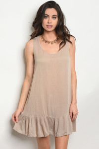 120-3-4-T40559 TAUPE DRESS 1-1-1