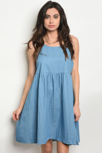 S10-13-4-D40665 BLUE DENIM DRESS 2-2-2