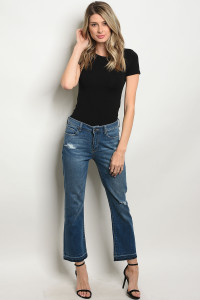 103-4-4-J834 MEDIUM BLUE DENIM JEANS 2-2-1-1-1-1-1-1