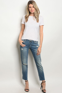 S15-1-1-J843 MEDIUM BLUE DENIM JEANS 1-1-1-1-1-1-1-1