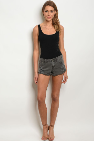 119-1-4-S12283 CHARCOAL SHORTS 3-2-1