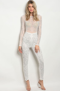 S4-1-4-J50234 WHITE SILVER WITH STONES JUMPSUIT 2-2-2