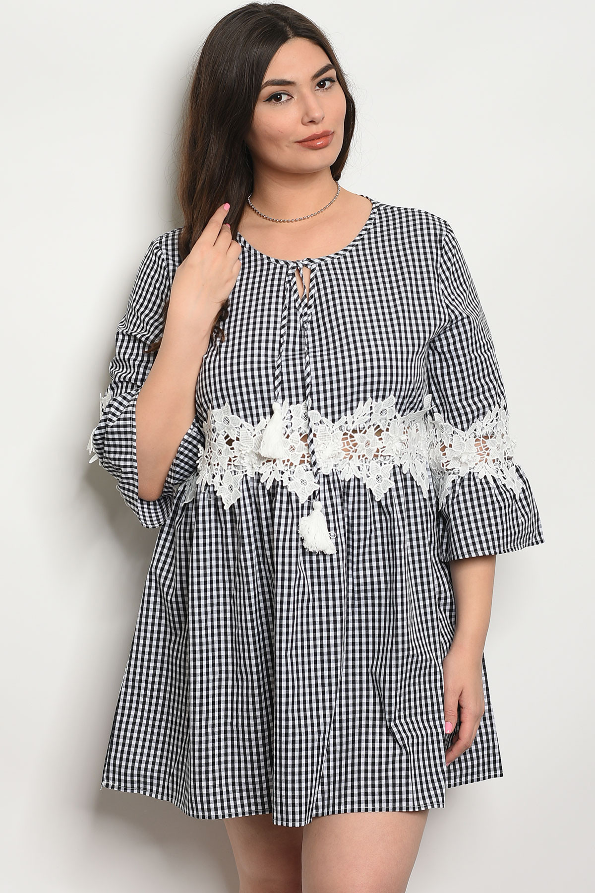 1c18f50af2a ... CHECKERED PLUS SIZE DRESS 2-2- · Larger Photo ...