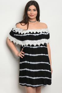135-1-5-D486X BLACK TIE DYE PLUS SIZE DRESS 3-3