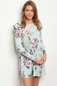 C79-A-3-D50161-1 MINT WITH FLOWERS DRESS 2-2-2