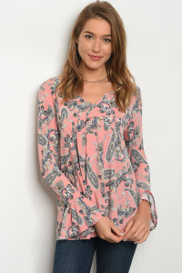 C98-B-1-T30190-1 BLUSH PAISLEY TOP 3-3-2