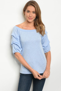 C38-B-4-T3170R235 LIGHT BLUE TOP 2-2-2