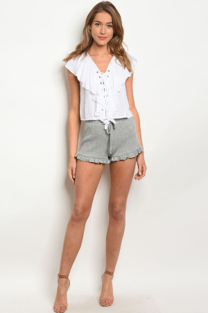 C69-B-5-SP160NI26 GREY SHORTS 2-2-2