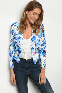 S12-11-2-B2194 WHITE BLUE BLAZER 2-2-2