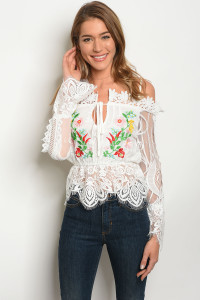103-6-3-T09316 WHITE FLORAL TOP 1-2
